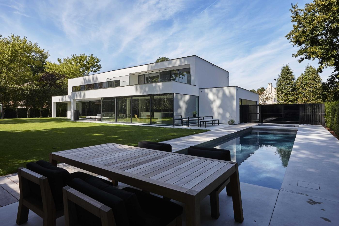 Villabouw dumobil tielt west vlaanderen for Modernes haus villa