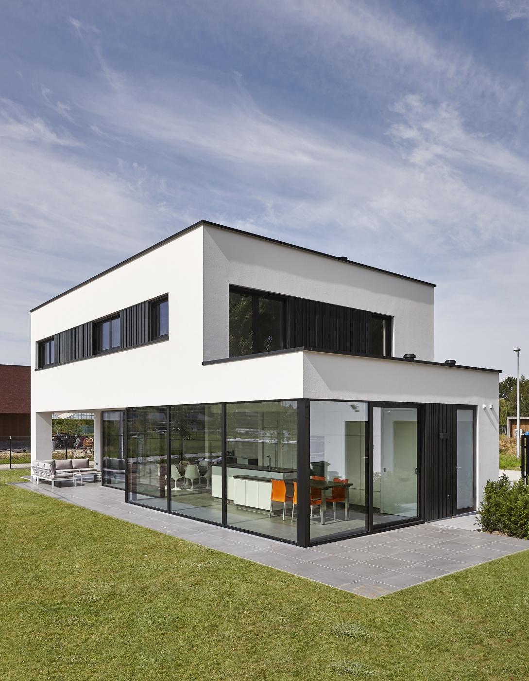 Villabouw dumobil tielt west vlaanderen for Woningen moderne villa
