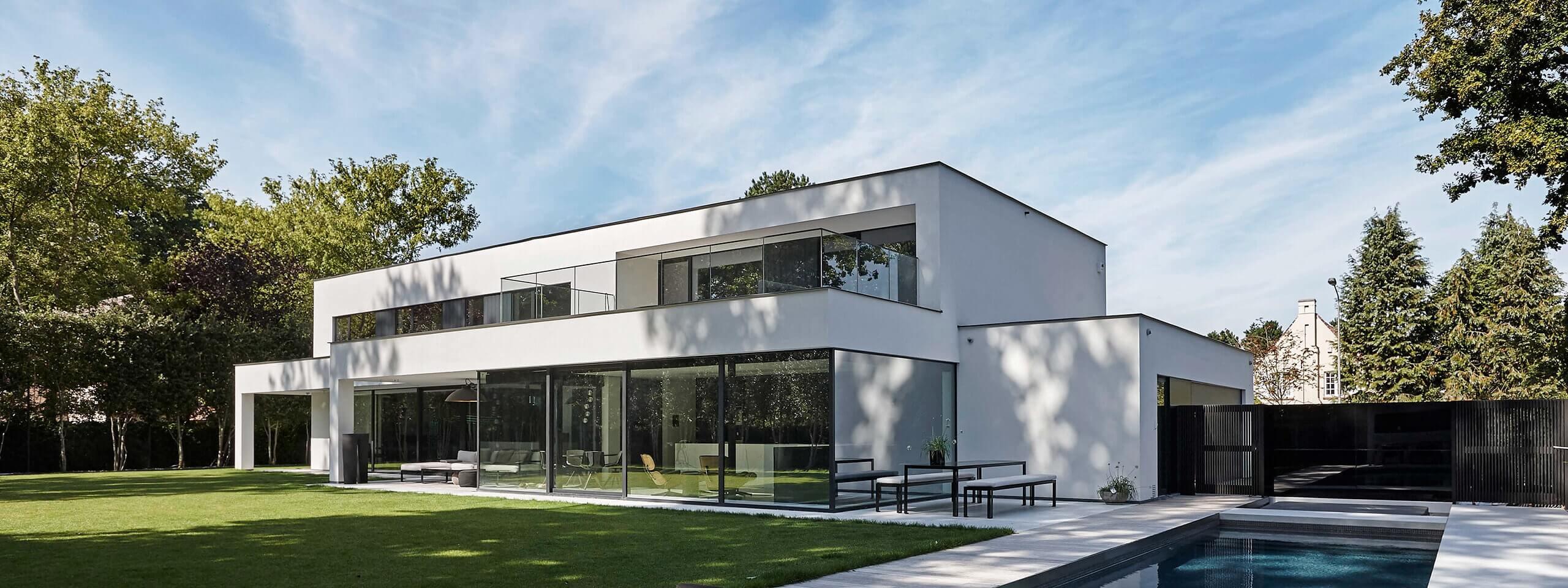 Villabouw bouwen op maat dumobil west vlaanderen oost for Moderne villabouw